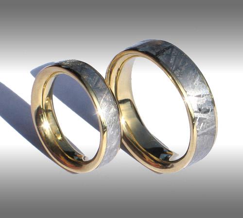 Meteorite Rings and Meteorite Wedding Bands